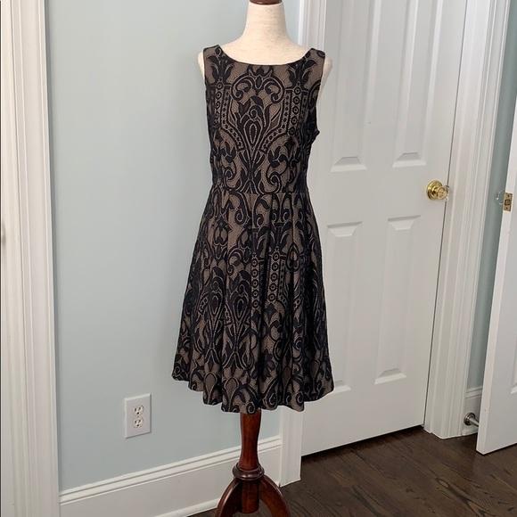 Eva Franco Dresses & Skirts - Eva Franco Black Lace A-line dress.  SZ 8